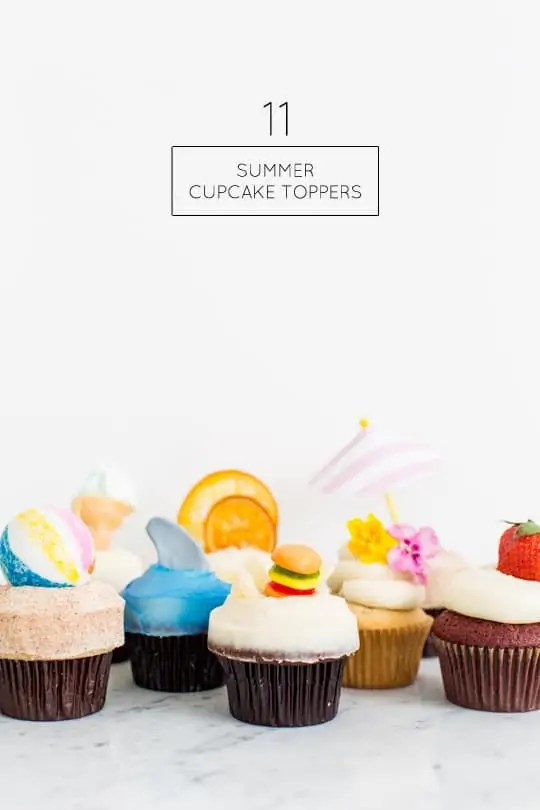 11 Summer Cupcake Toppers - Sugar & Cloth