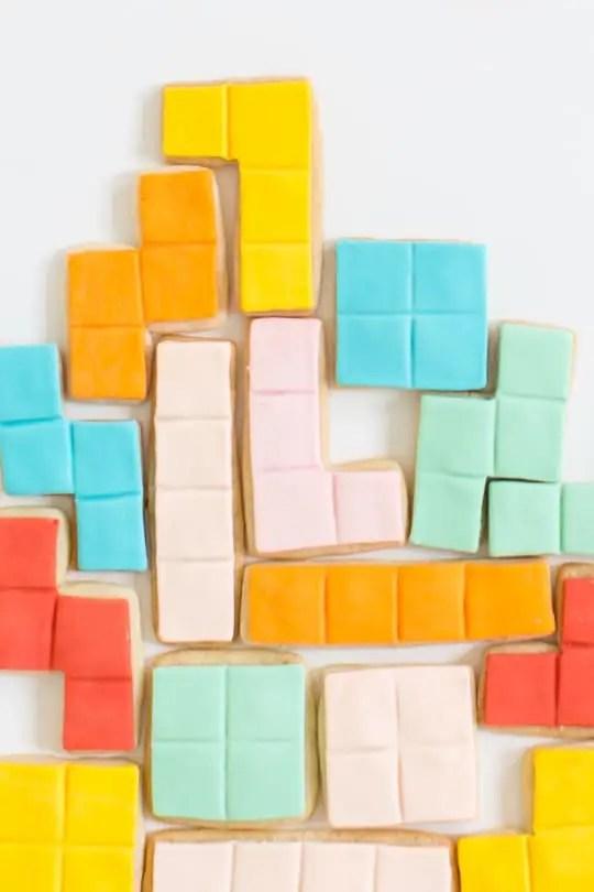 DIY tetris cookies - sugar & cloth