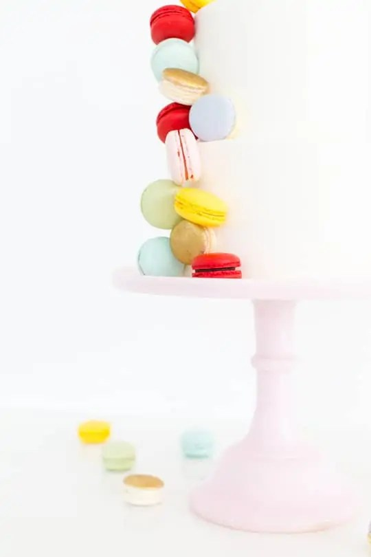 DIY Macaron Cake - Sugar & Cloth - Ashley Rose