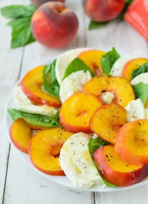 Peach Caprese Salad Recipe - Sugar & Cloth