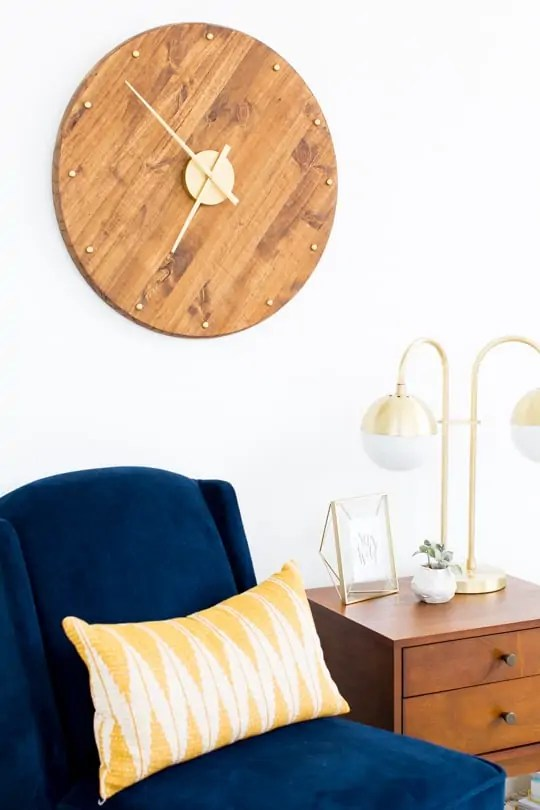DIY mid century wall clock - sugar & cloth
