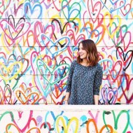 sugar and cloth studio behind the scenes - ashley rose - love wall new york