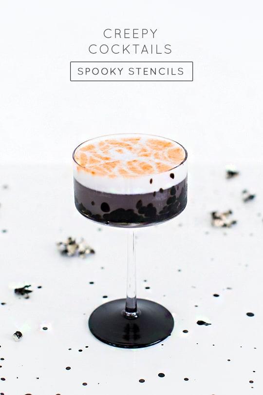 Creepy Cocktails: Spooky stencil cocktails - sugar and cloth