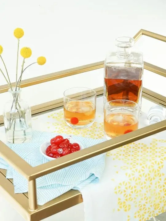 DIY bar cart runner - sugar and cloth
