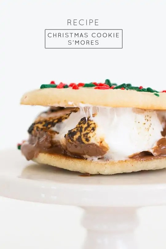 Christmas cookie smores recipe - Sugar & Cloth