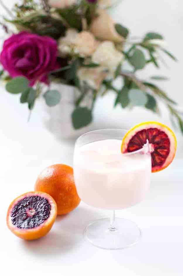 Blood Orange & Rose Creamsicle Cocktail (yields 2 drinks):