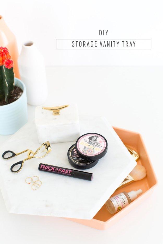DIY Storage vanity tray - sugar and cloth