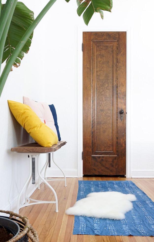 Colorful DIY Tufted Pillows Sugar & Cloth
