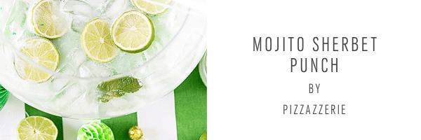 Mojito Sherbet Punch - Pizzazerie - sugar and cloth