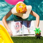 Poolside Cool: DIY Retro Floral Floppy Hat