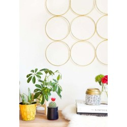 Magnificent A Diy Brass Ring Wall Decor To Hang At Diy Brass Ring Wall Decor Sugar Cloth Diy Decor Home Pinterest Diy Decor Home Office