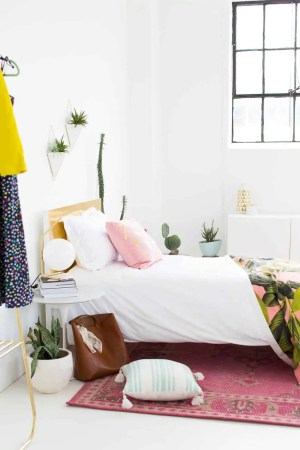 DIY Faux Brass Headboard (+ our LOCAL Magazine Feature!)