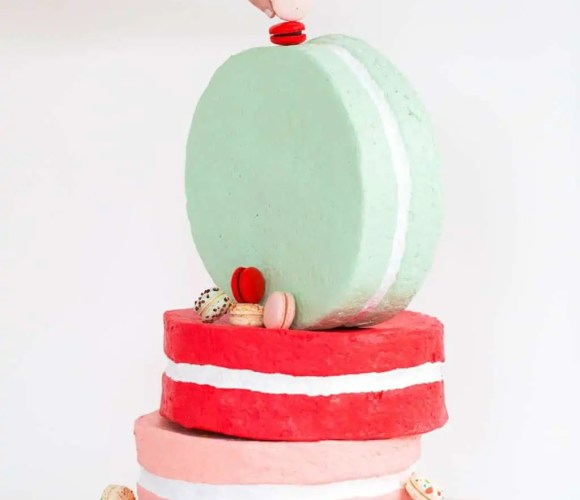 Jumbo DIY Paper Mache Macarons for the win! by lifestyle blogger Ashley Rose of Sugar & Cloth - Houston, TX