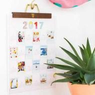Free DIY Printable Photo Wall Calendar by lifestyle blogger Ashley Rose of Sugar & Cloth