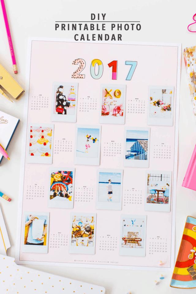 Diy Calendar Background : Diy printable photo wall calendar sugar cloth