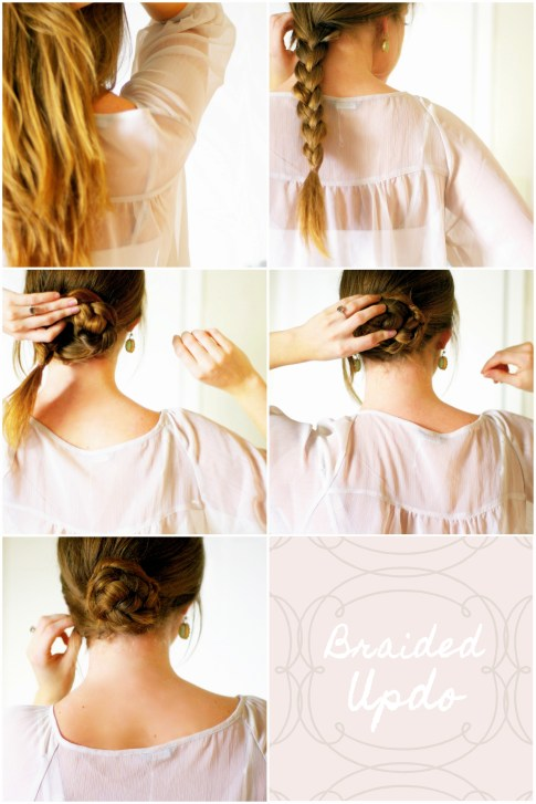 braided hair updo tutorial how-to
