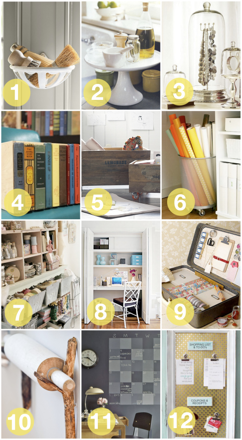 twelve ways to creatively organize and store