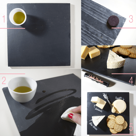 how to make your own slate cheeseboard