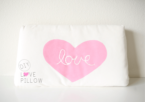 DIY love pillow