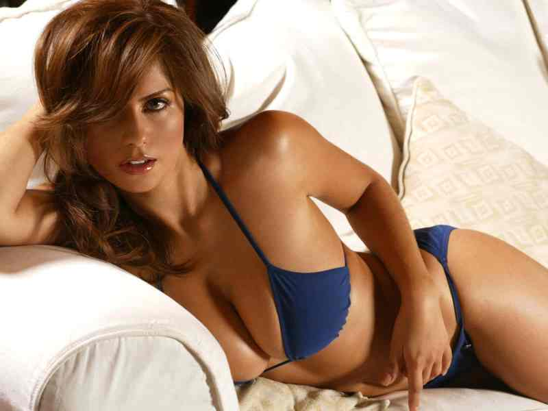 hot-girl on the couch
