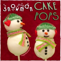 How To Make Snowman Christmas Cake Pops