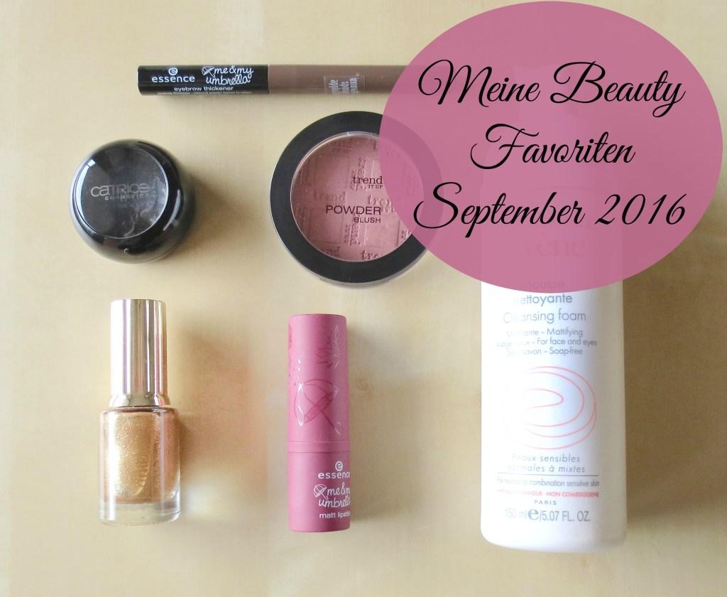 Meine Beauty Favoriten September 2016