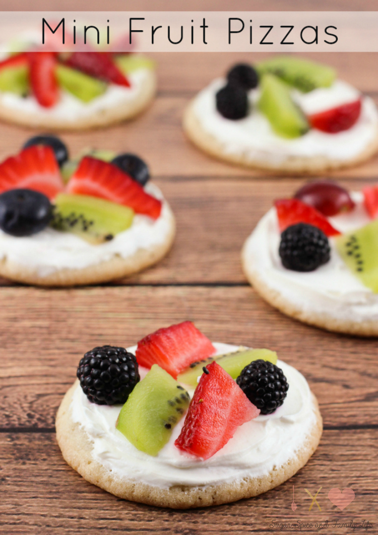 Mini Fruit Pizzas Recipe - Sugar, Spice and Family Life