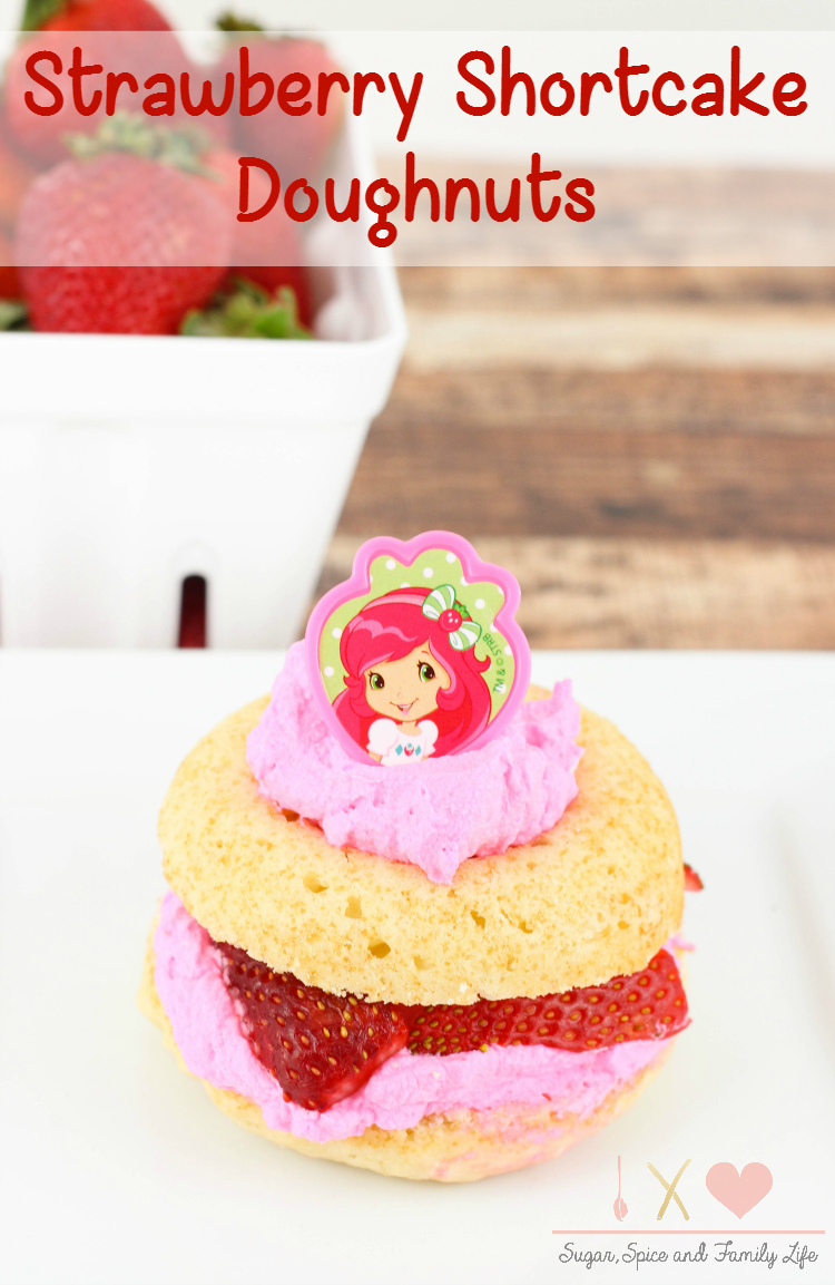 Strawberry Shortcake Doughnuts Recipe - Sugar, Spice and Family Life