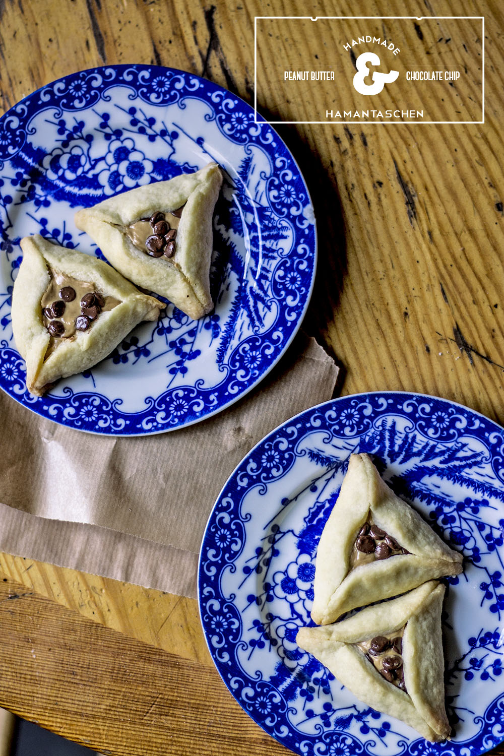 Peanut Butter and Chocolate Chip Hamantaschen