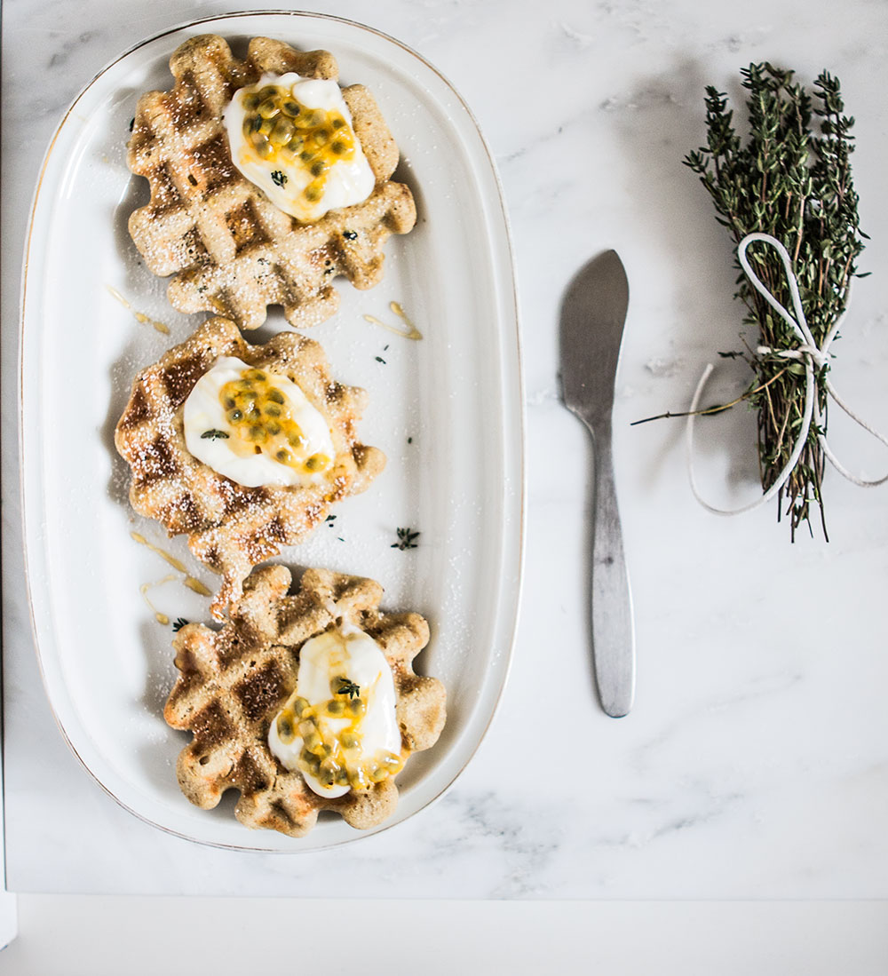 Spelt waffles recipe | Sugar Thumb