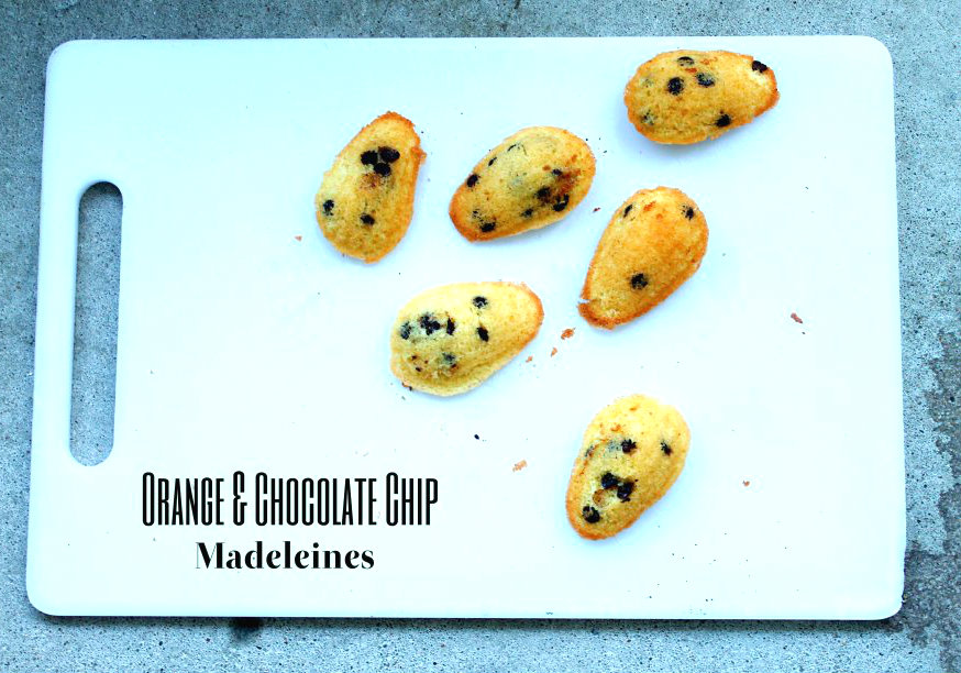 Orange & Chocolate Chip Madeleines