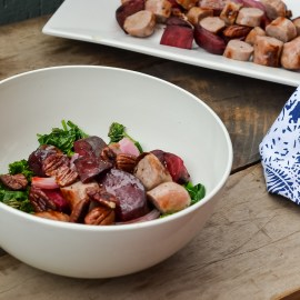 Hearty Beetroot & Sausage Hash