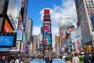 Image result for times square at christmas time