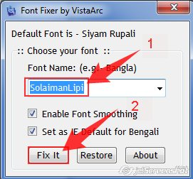Bangla language problem in windows 7