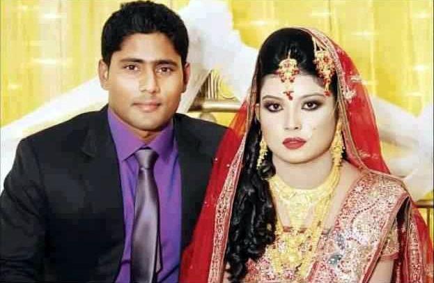 Imrul Kayes Bangladeshi Cricketer with his wife