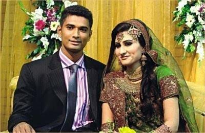 Mahmudullah Riyad Bangladeshi Cricketer with his wife Misty