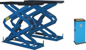 Wheel Free Double Scissor Lift