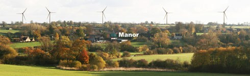 How the five turbines would have appeared from the Barrow Hill footpath