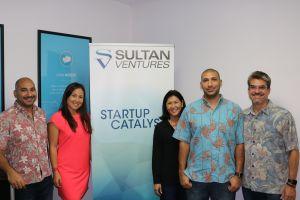 Investors - Omar Sultan, Meli James, Susan Yamada, Tarik Sultan, and Michael Pfeffer - getting ready for UberPITCH!
