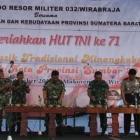 PERINGATI HUT TNI KE-71 : KOREM 032/WIRABRAJA ADAKAN FESTIVAL MUSIK TRADISIONAL MINANGKABAU