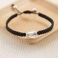Silver Ruffle Charm Friendship Bracelet