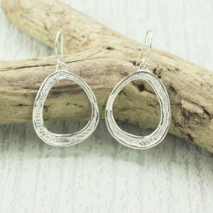 Silver Avgos Drop Earrings