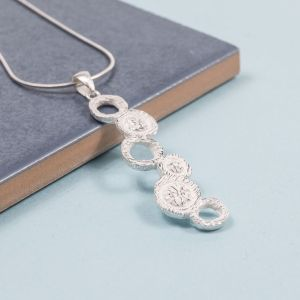 Silver Atom Pendant