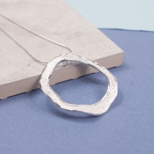 Sterling Silver Halo Pendant
