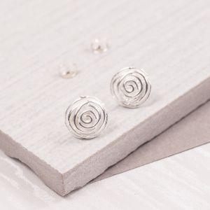Silver Rosebud Studs