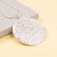 Large Silver Lunar Pendant