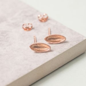Silver and Rose Gold Pod Studs