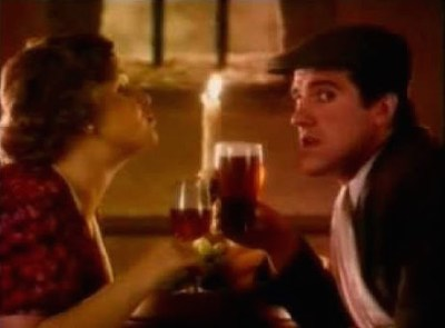 Romancing Jane Freeman in an ad for John Smith's Bitter.