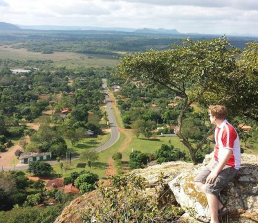 Jacob Myers overlooking an incredible view of Paraguay. Photo courtesy of Jacob Myers