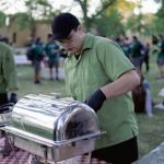 Awesome catering from RMC Dining at the Pep Rally - Homecoming September 2021